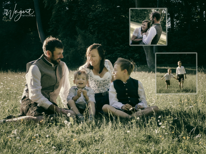 Familienfotos Outdoor Collage